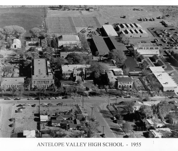 Aerial view showing Antelope Valley Joint Union High School