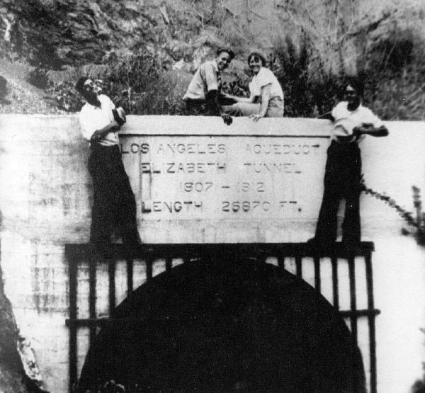 The completed Fairmont Tunnel (aka the 'Elizabeth Tunnel') of the Los Angeles-Owens Valley Aqueduct