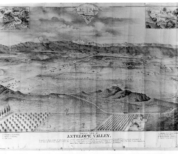 Drawing showing a bird's-eye view of the Antelope Valley