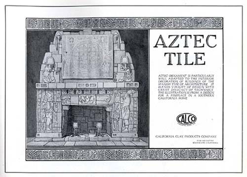 Advertisement for Aztec Tile produced in South Gate