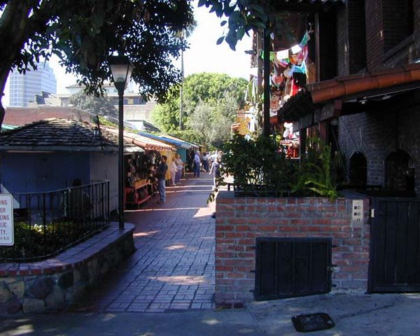Olvera Street from Cesar Chavez