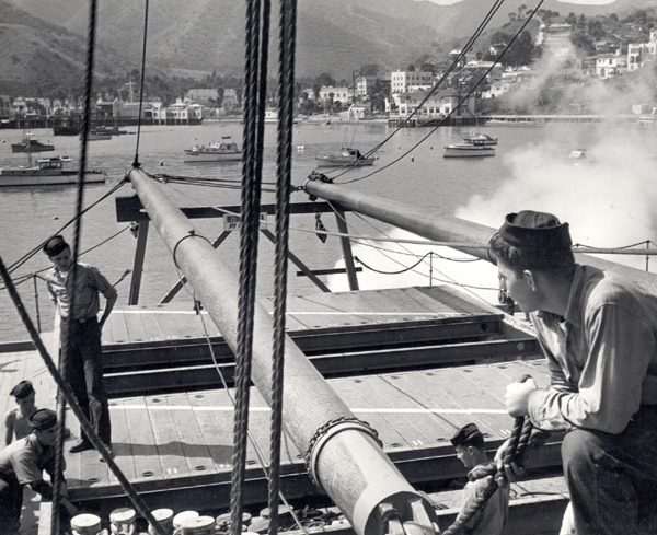 U.S. Maritime Service training in Avalon Bay during World War II, c. 1940s