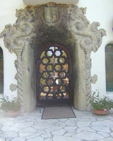 Front entrance of Walter Temple home, 'La Casa Nueva,'