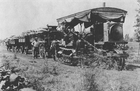 Hauling of grain on Dominguez Estate Company lands, 1904