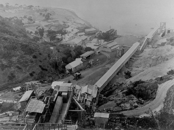 Catalina Clay Products pottery plant on Pebbly Beach, c. 1930s