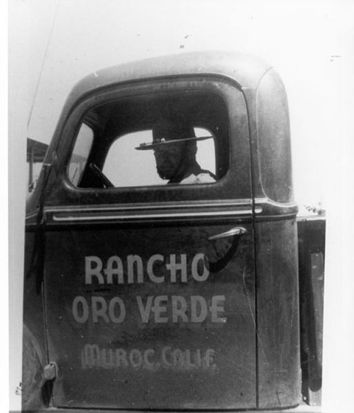 Pancho Barnes's truck with Rancho Oro Verde