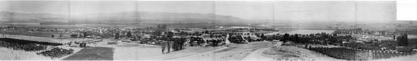 Panoramic view of the La Puente Valley looking south