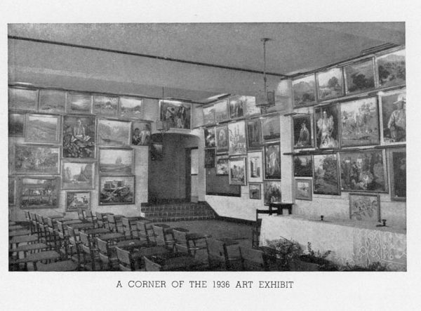 A corner of the 1936 art exhibit