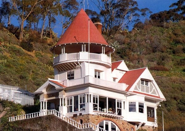 Holly Hill House built by Peter Gano in 1890 overlooking Avalon Bay