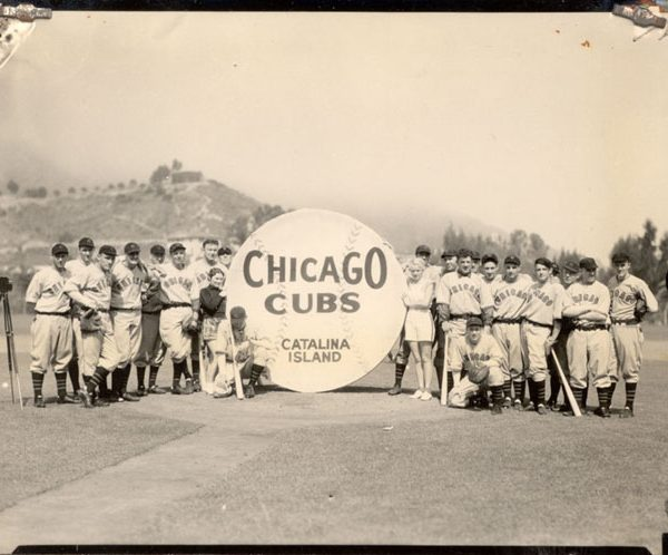Chicago Cubs team photo on Catalina Island, c. 1930s