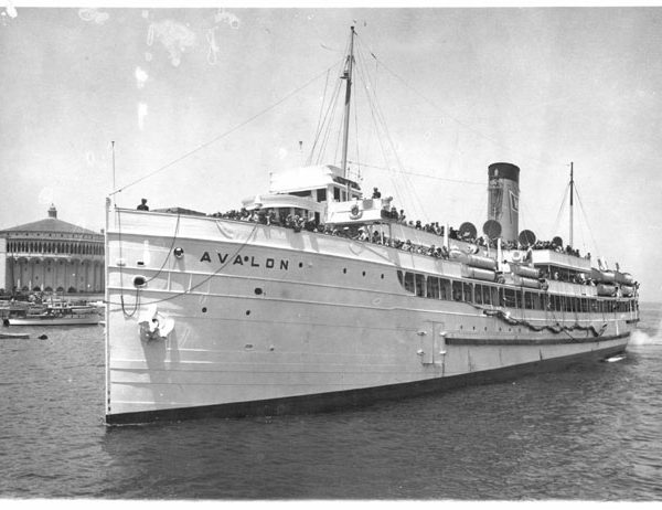 S.S. Catalina with Casino in background, c. 1930s