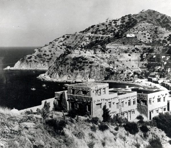 Zane Gray home overlooking Avalon Bay, c. 1930