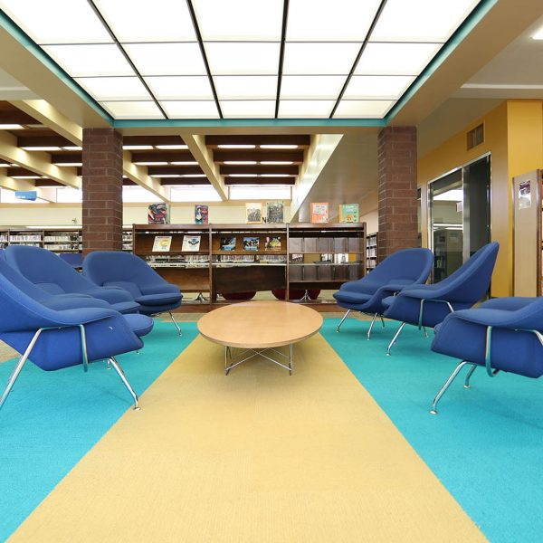 Baldwin Park Library reading area