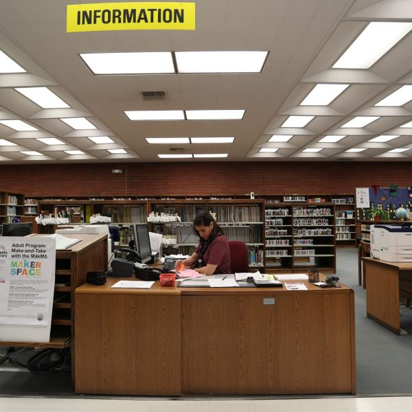 Norwood Library receptiod desk