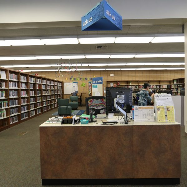 Rosemead Library reception desk