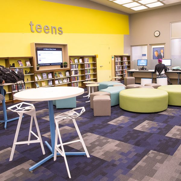 AC Bilbrew LIbrary teenager area