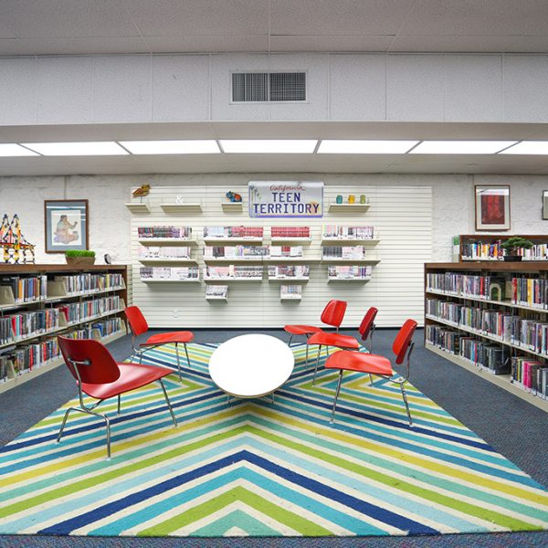 childrens area in Anthony Quinn Library