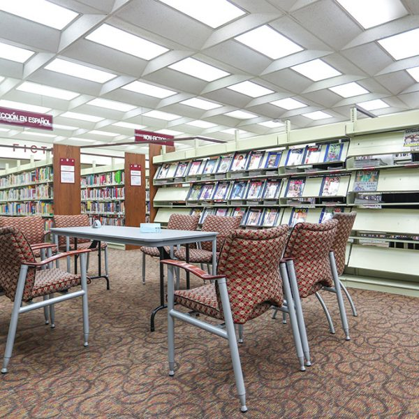 City of Terrace Library reading area