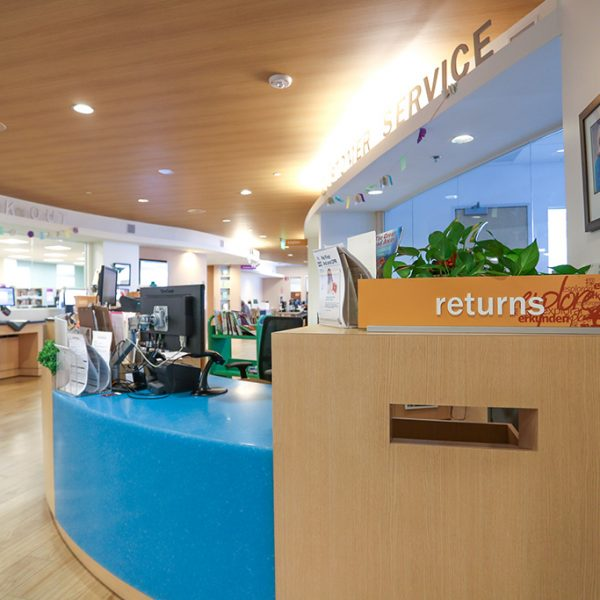 Castaic Library returns desk