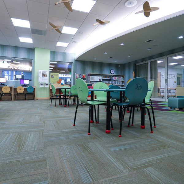 Castaic Library reading area
