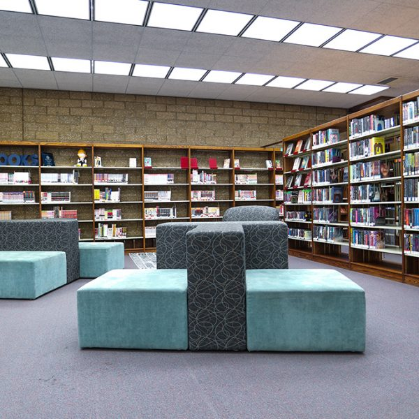 Clifton M Brakenseik Library sitting area