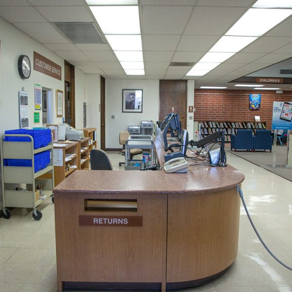 Dr Martin Luther King Jr Library reception desk