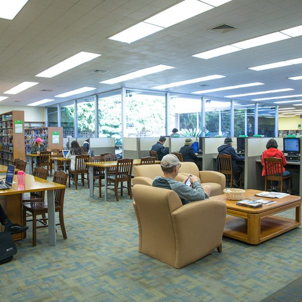 Gardena Mayme Dear Library reading area