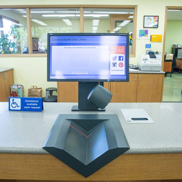 Gardena Mayme Dear Library computer area