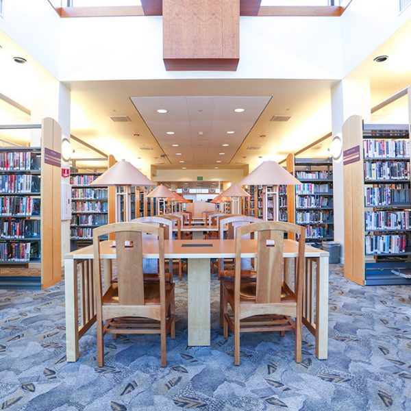 Westlake Village Library reading area