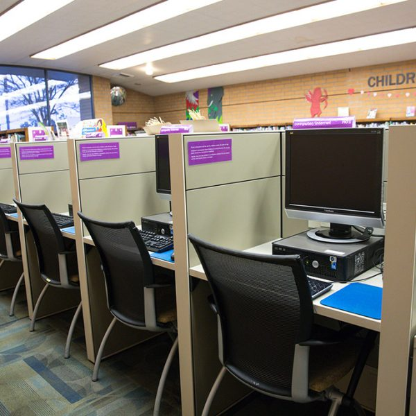 Woodcrest Library computer area