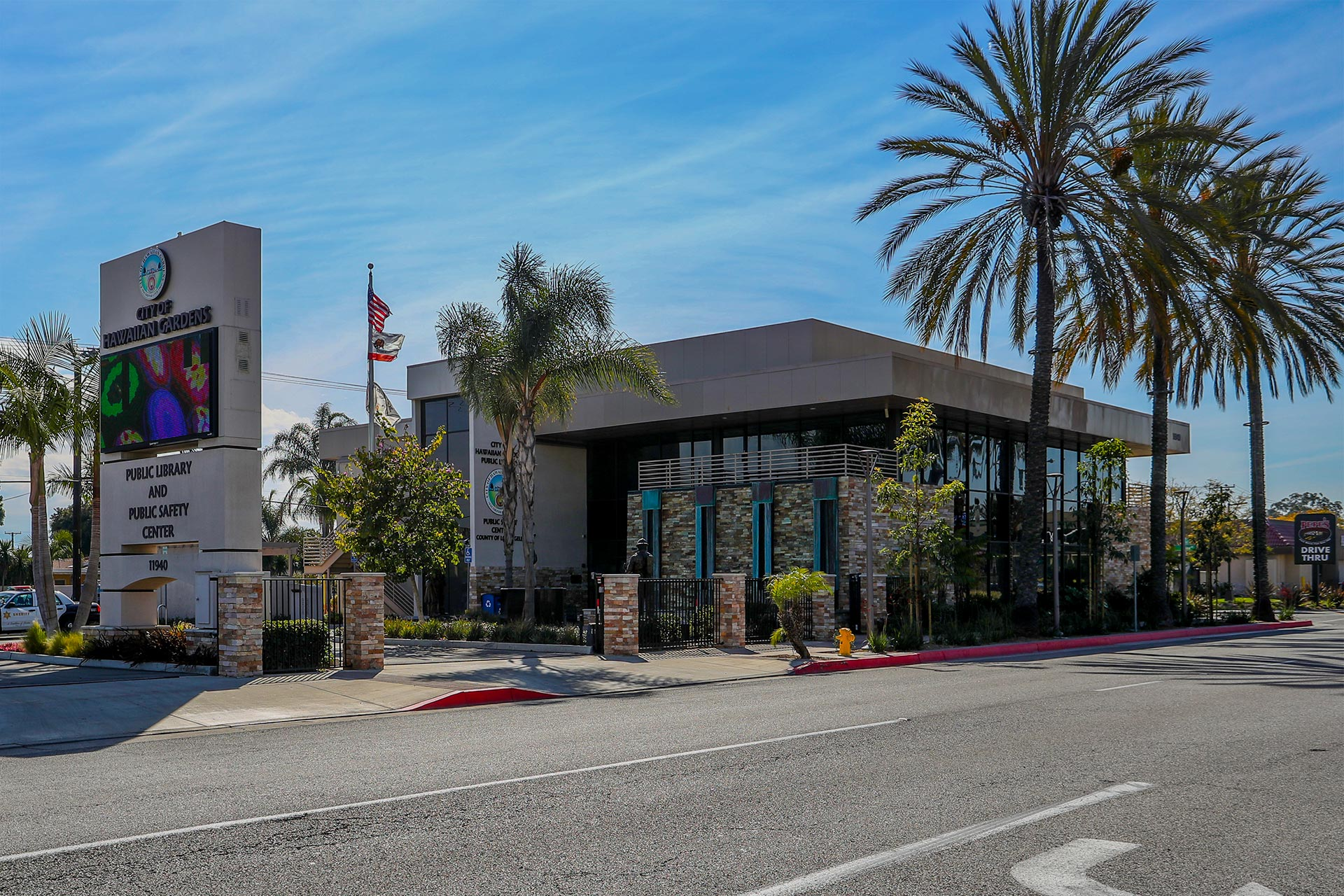 Hawaiian Gardens Library Background