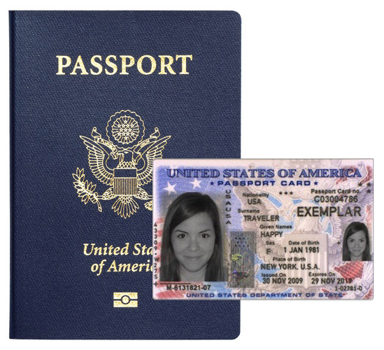 US passport & card