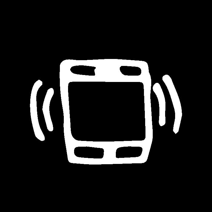 White Cell Phone Icon