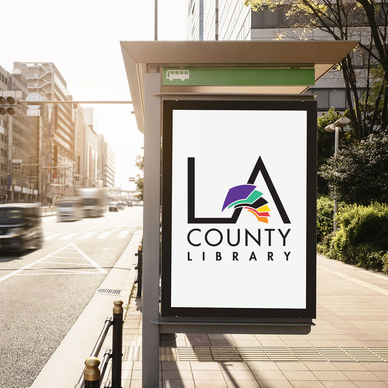 LA County Library media board