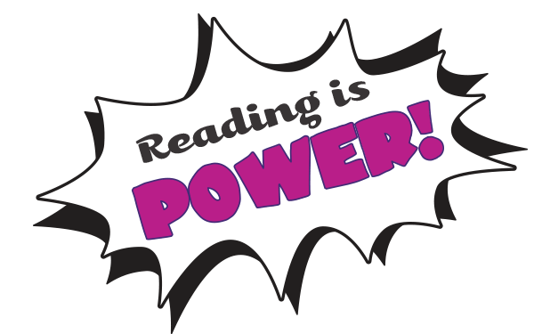 Reading is Power title
