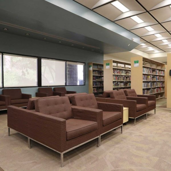 walnut library sitting area