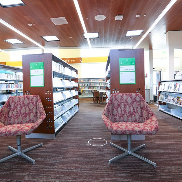 Los Nietos library reading area