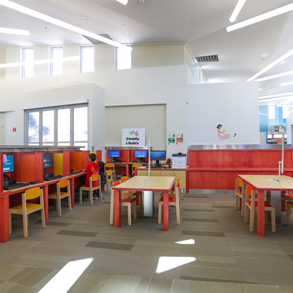 Pico Rivera Library sitting area
