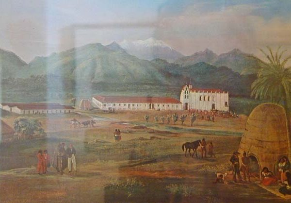 Painting of the San Gabriel Mission