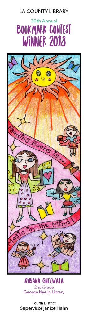 bookmark contest winning design