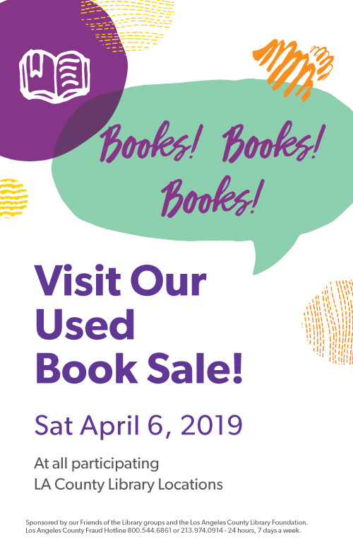 booksale on april 6, 2019