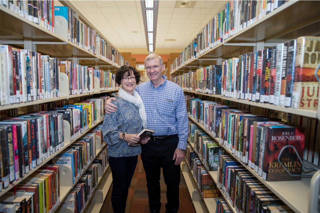 dennis and sharon poteet in east LA library