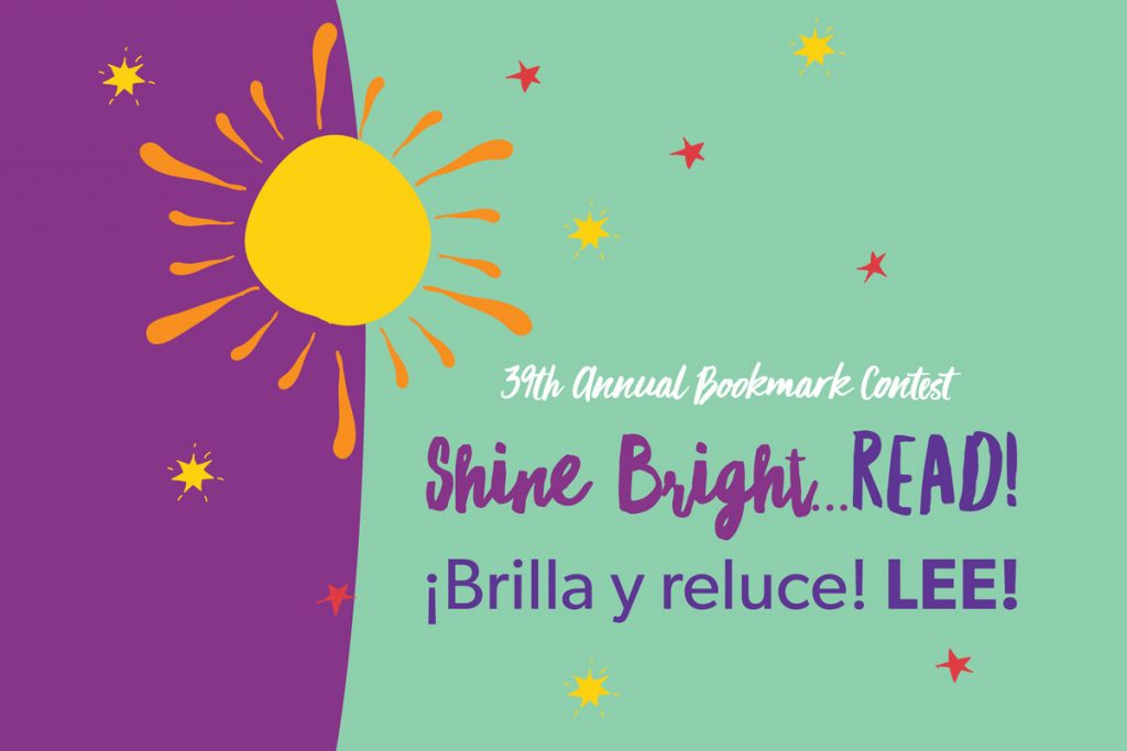 bookmark contest, shine bright, read