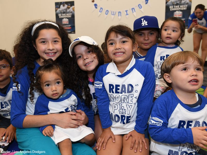 Children at Dodgers storytime