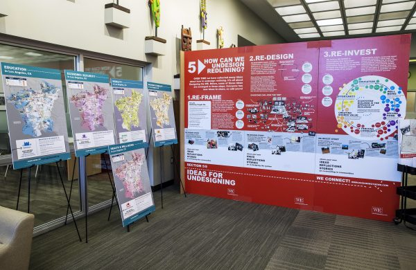 October 19, 2019 - Undesign the Redline exhibition opening reception at A C Bilbrew Library, part of LA County Library. Photograph by Monica Almeida.